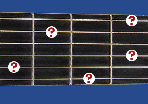 Fretboard with question marks