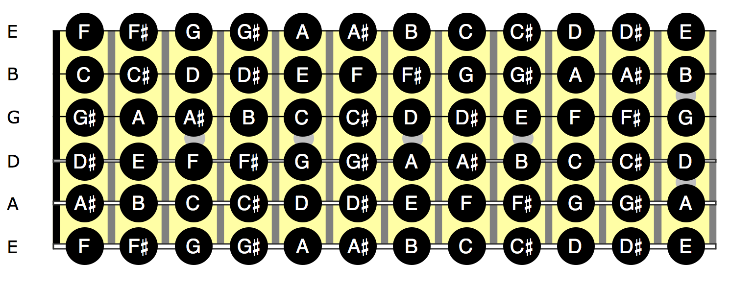 L1 - Chromatic scale all strings