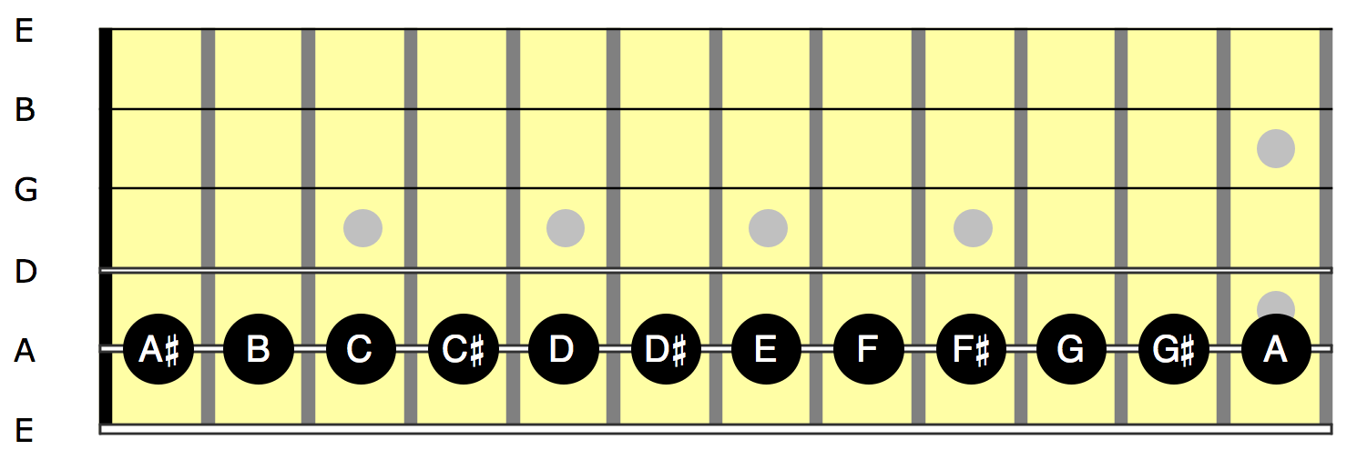 L1 - Chromatic scale on A string