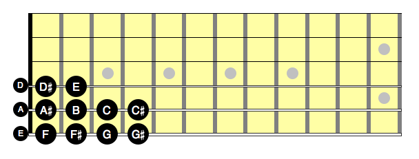 L1 - E chromatic scale on multiple strings