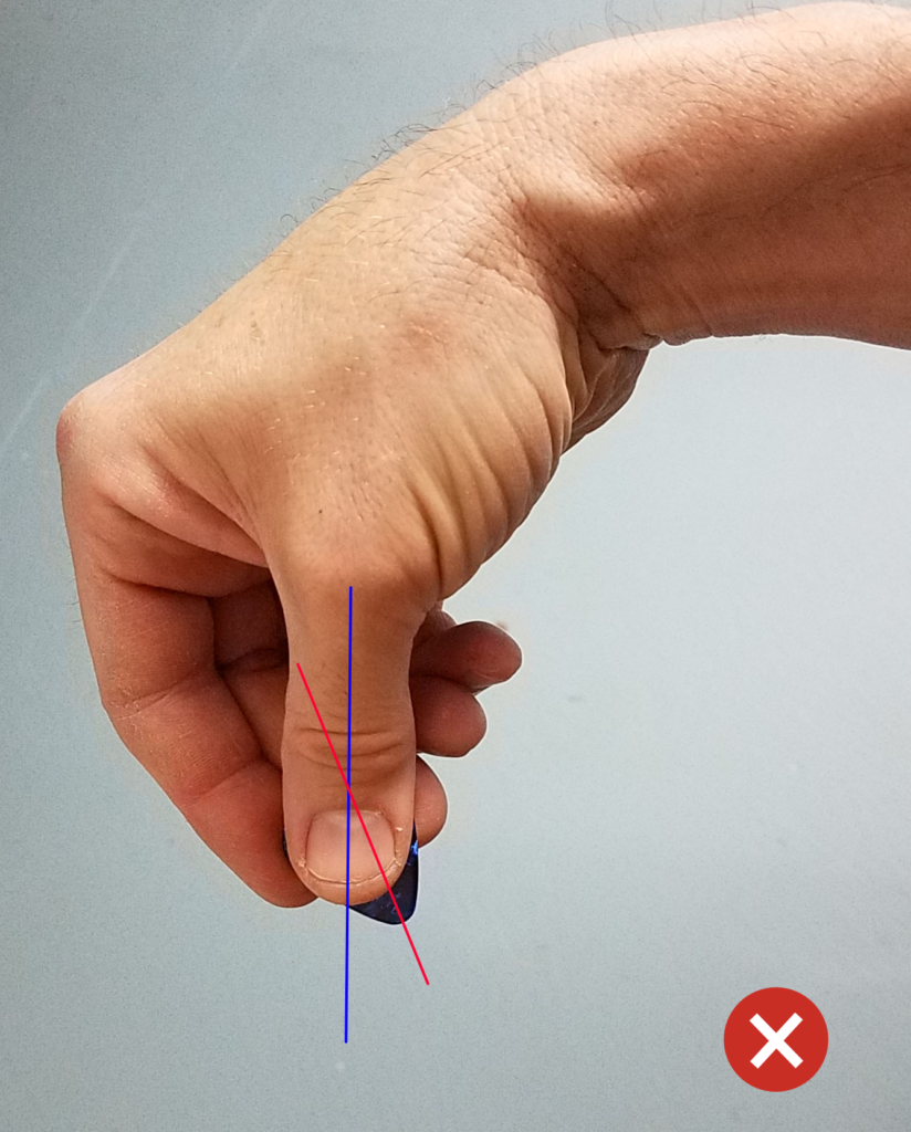 holding pick wrong way