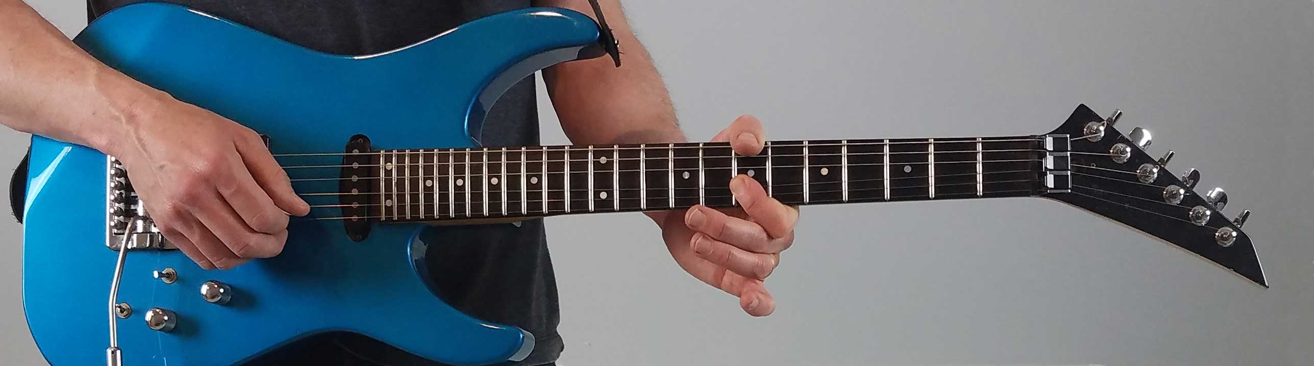Blue guitar background